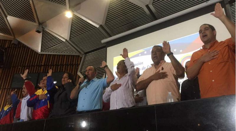 Juramentado Comando Zamora 200 de la Clase Obrera en defensa de la ANC