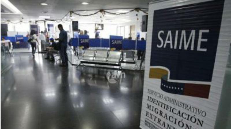 Saime ofrecerá servicio de cedulación los días 22, 23 y 29 de julio en todo el país