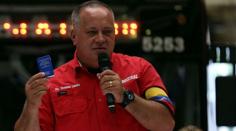 Cabello propondrá realizar elecciones parlamentarias con las presidenciales