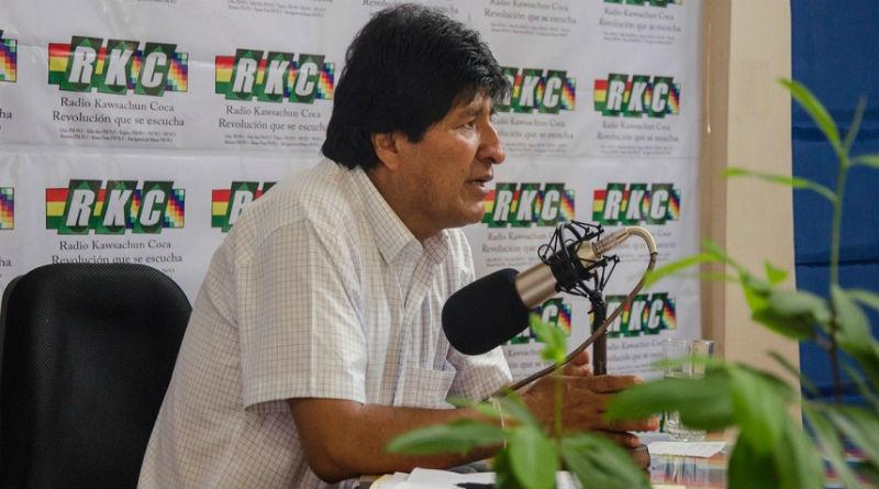 Presidente Evo Morales se solidariza con Venezuela ante ataques de EEUU