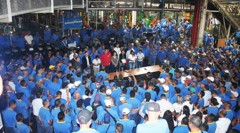 Trabajadores realizaron ocupación de la empresa Goodyear de Venezuela